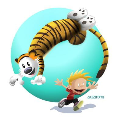 Fan Art: Calvin & Hobbes